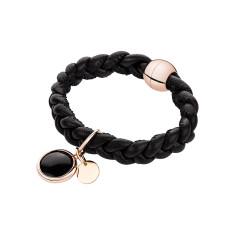 Leather bracelet in black