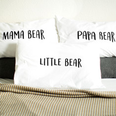 Papa Bear/Mama Bear/Little Bear Pillow Case Set