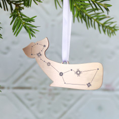 Cetus Whale Constellation  Christmas Ornament