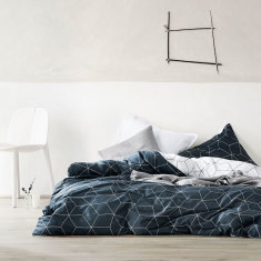 Sine slate quilt cover
