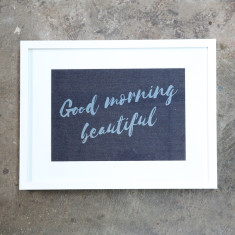 Good Morning Beautiful Denim Print