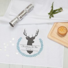 Personalised Winter Stag Table Runner