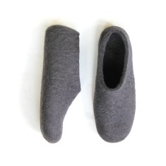 Women's non-slip black felt slippers
