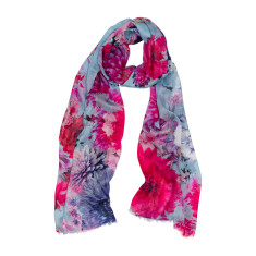 Spring flowers luxe scarf