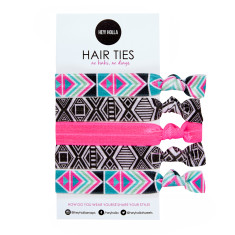 No Kink hair ties in festival print