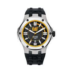 Navigo series watch in Steel and Rubber with black and yellow face plus free gift