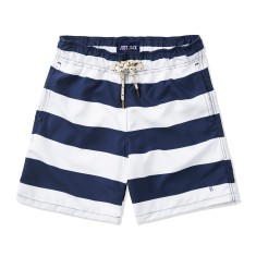 Boys Board shorts in Navy & White Stripes