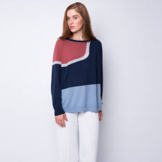 Sunset island intarsia cashmere pullover