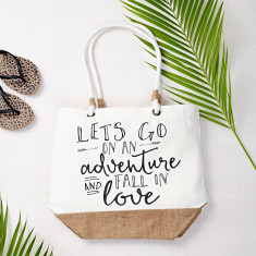 Let's Go On An Adventure Beach Bag