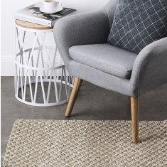 Wool and jute blend rug