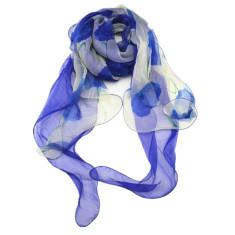 Denim desire light silk scarf