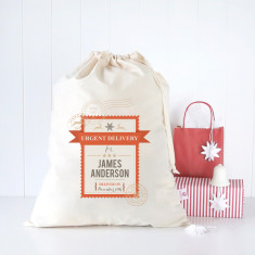 Urgent delivery personalised Santa sack