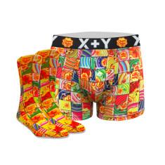 Men's mosaic chupa chups trunk & sock set