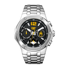 CAT NAVIGO MULTI dial Dual Time Watch in Stainless Steel & Black