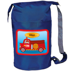 Personalised fire engine swim bag