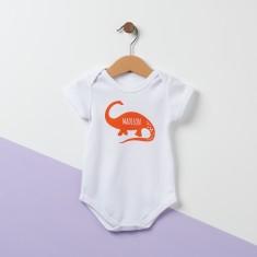 Personalised Diplodocus Dinosaur Baby Suit