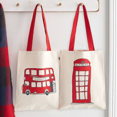Telephone Box & Simply London Bus canvas bag