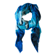 Midnight ink wool scarf