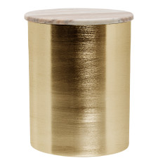 Deco Jar in brushed gold finish with Marble top