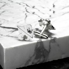Fleur de lis cufflinks Sterling Silver
