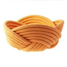 Weave bowl in mustard