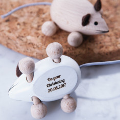 Personalised Christening Keepsake Mouse