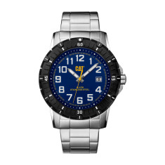 CAT PV-1 series watch in steel with blue face