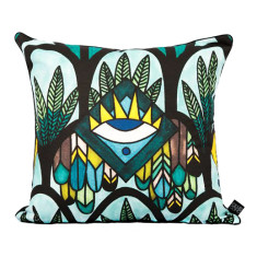 The Santorini Seas Cushion Cover