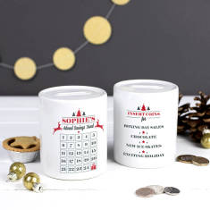 Personalised Advent Calendar Money Savings Box