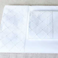Flat & Fitted Diamond Cot Sheet Set