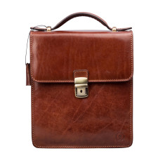 Personalised Medium Leather Shoulder Bag, The Santino