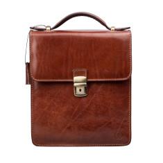 Personalised Medium Leather Shoulder Bag, The Santino