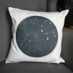 Personalised Wedding Zodiac Cushion