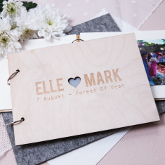 Personalised couple's wedding guest book