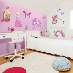 King & queen fairy princess wall stickers