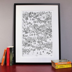 Fields limited edition print By Moose Allain