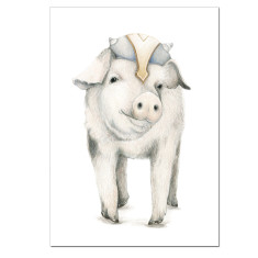 Viking Pig Print