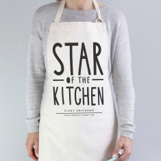 Star of the kitchen personalised apron