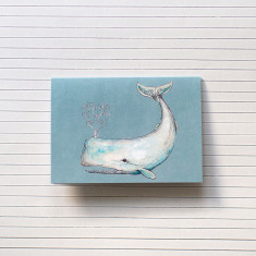 Pack of 4 Whale Watercolour Illustration Greeting Cards