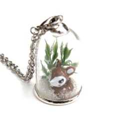 Make-your-own woodland pendant kit in deer