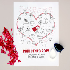 Personalised Christmas & New Year fingerprint guestbook