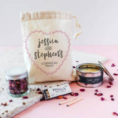 Personalised Valentine's Day In A Pouch Mini Kit