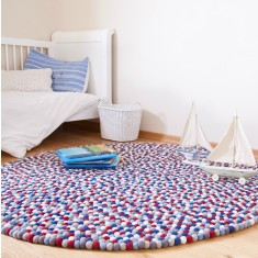 Kids' felt ball rug (various colours)