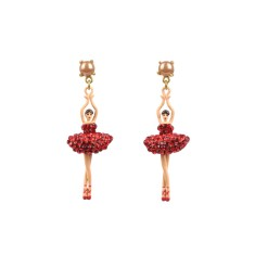 Ballerina earrings - sparkling red