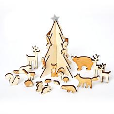 Personalised Woodland Scene Advent Calendar