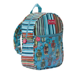 Kids backpack in Robot Downey Stripe print