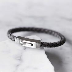 Personalised Men's Grey Bracelet