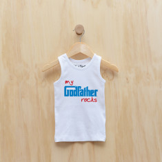 My godfather rocks singlet in blue or pink