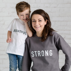 Strong Mother's Day Jumper And Beautiful Child Set