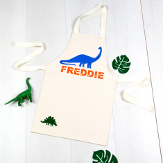 Personalised Dinosaur Kids' Apron